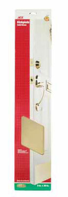 Ace 30 in. L x 6 in. W Brass Door Kickplate 1 pk