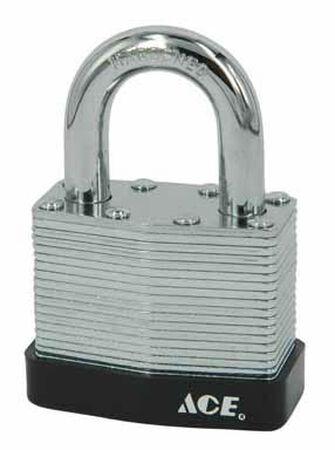 Ace 1-3/16 in. Pin Tumbler Laminated Steel Padlock