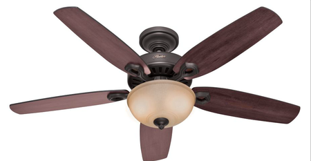 Hunter Fan Builder Deluxe Ceiling Fan 52 in. W New Bronze