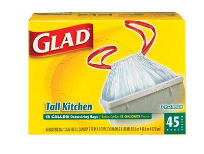 Glad 13 gal. Tall Kitchen Bags Drawstring 45 pk