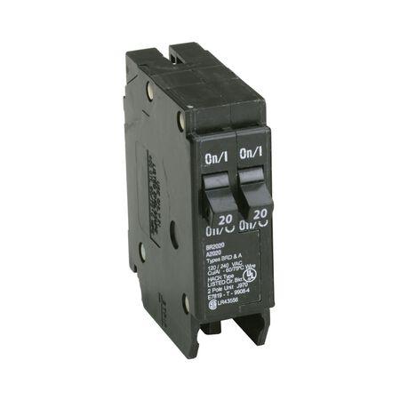 Eaton HomeLine Tandem/Double Pole 20/20 amps Circuit Breaker