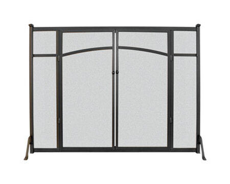 Panacea Matte Metal Fireplace Screen Indoor and Outdoor