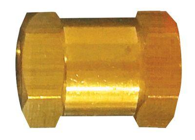 Tru-Flate Brass/Steel Hex Coupling 1/4 in. FNPT Female