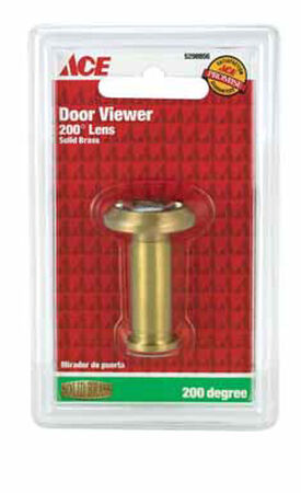 Ace Door Viewer Bright Brass Solid Brass Fits Doors 1-3/8 in. to 2-1/8 in. Thick