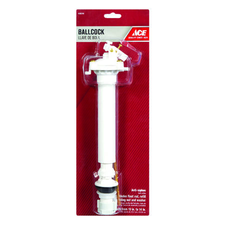 Ace Adjustable Ballcock 14 in. L Plastic