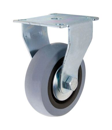 Shepherd Thermoplastic Rubber 3 in. Dia. Caster Wheel with Plate Gray 121 lb.