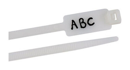 Gardner Bender ID 8 in. L White Cable Tie 25 pk