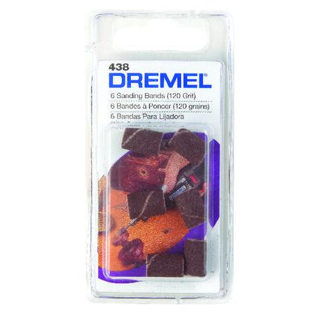 Dremel 0.3 in. Dia. x 0.1 in. Dia. 120 Grit Drum Sander Bands Aluminum Oxide