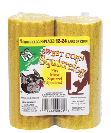 C&S Products Sweet Corn Squirrelog Squirrel and Critter Food Corn Flour 32 oz.