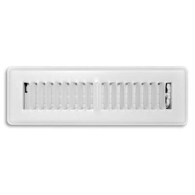 Tru Aire 10 in. W x 2-1/4 in. H White Steel Floor Register