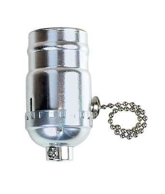 Jandorf 3-Way 250 watts 250 volts Pull Chain Socket Nickel