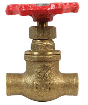 B & K 3/8 in. FPT x 3/8 in. Dia. Red Gate Valve