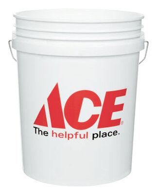 Ace Plastic Bucket 5 gal. White