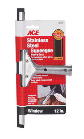 Ace 12 in. W Window Squeegee Stainless Steel