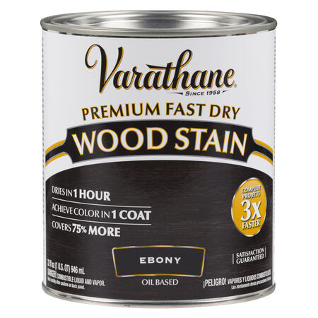 Varathane Semi-Transparent Ebony Oil-Based Urethane Modified Alkyd Wood Stain 1 qt.