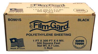 Berry Plastics Film-Gard Plastic Sheeting 6 mil x 1 ft. W x 300 ft. L Polyethylene Black