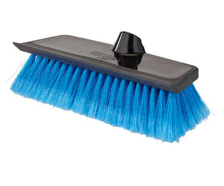 Unger 10 in. W Rubber Water Flow Soft Bristle Brush Synthetic