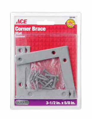 Ace Flat Corner Brace 3-1/2 in. x 5/8 in. Galvanized Steel