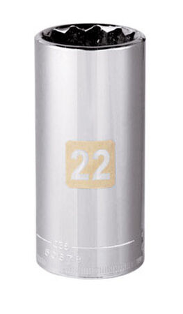 Craftsman 22 Alloy Steel 3/8 in. Drive in. drive Socket Deep