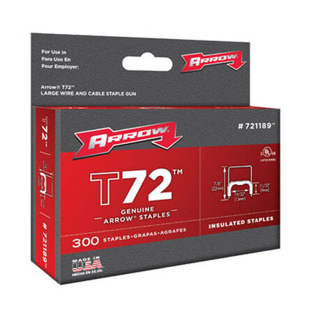 Arrow T72 Wide Insulated Staples Gray 7/8 in. L
