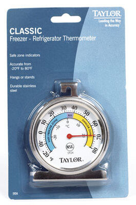 Taylor Analog Refrigerator Thermometer -20 To 80