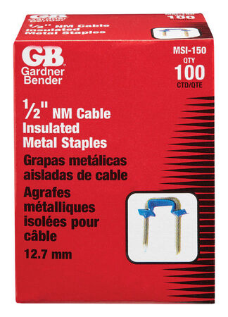 GB 1/2 in. W Metal Insulated Insulated Staple 100