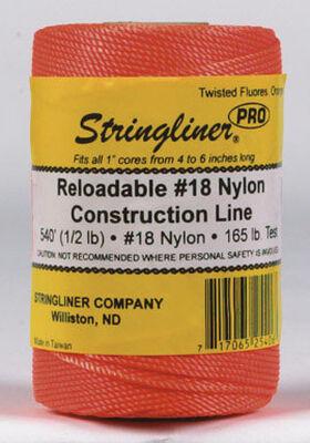 Stringliner Twisted Fluorescent Orange Chalk Line Refill 540 ft. L x 1/2 lb.