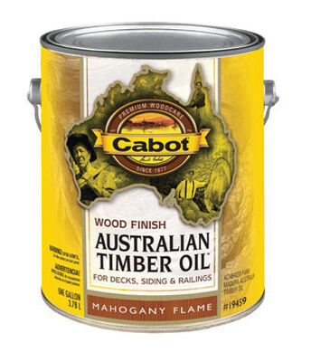 Cabot Wood Finish Transparent Oil-Modified Australian Timber Oil Mahogany Flame 1 gal.