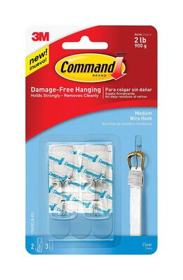 3M Command Medium Wire Toggle Hook 2-1/6 in. L Plastic 2 lb. per Hook 2 pk