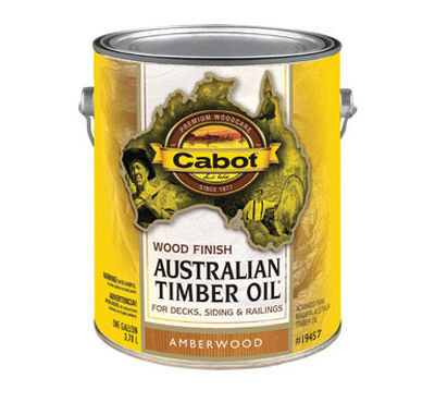 Cabot Wood Finish Transparent Oil-Modified Australian Timber Oil Amberwood 1 gal.