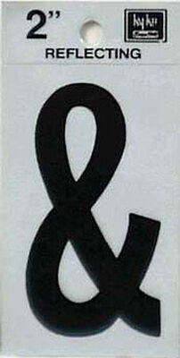Hy-Ko Self-Adhesive Black 2 in. Reflective Vinyl Special Character Ampersand