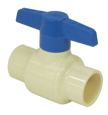 KBI Ball Valve 3/4 in. Dia. x Push Fit x 3/4 in. Dia. Push Fit CPVC One Piece