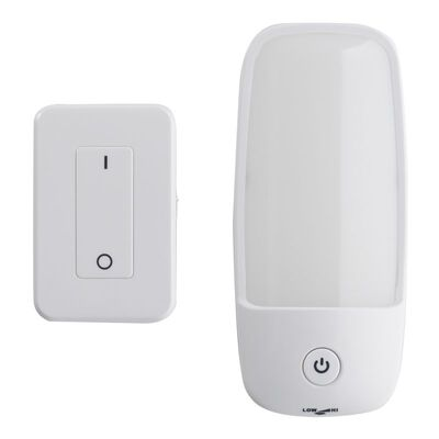 Fulcrum White Plastic LED AA Wall Sconce with Remote