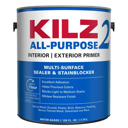 Kilz 2 Latex Water-Based Interior and Exterior Primer and Sealer 1 gal. White Mildew-Resistant