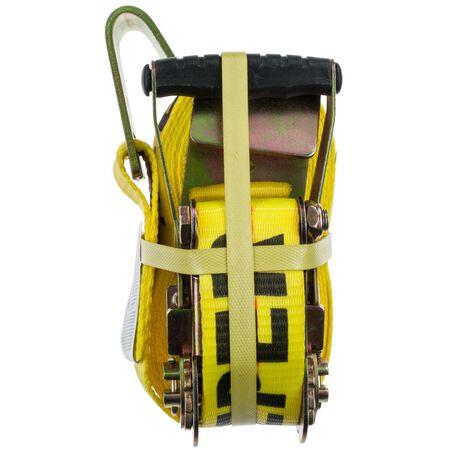 US Pro Grip Zinc Plated Tie Down 27 ft. L 10000 Flat Hooks Yellow