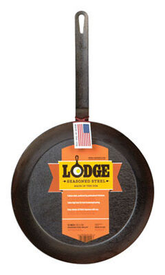 Lodge Steel Skillet 12 in. Black