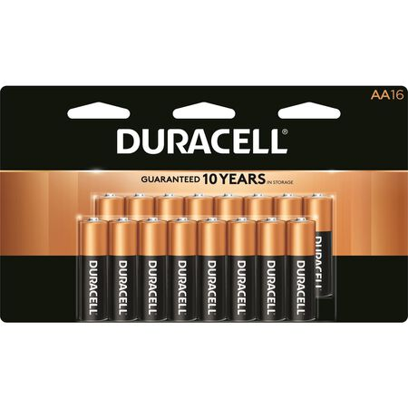 Duracell Coppertop AA Alkaline Batteries 1.5 volts 16 pk