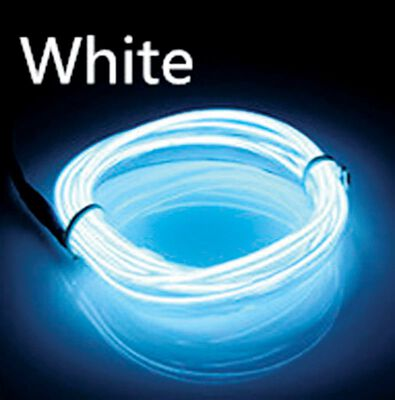 Celebrations Neon Rope Light Set White Plastic 1 pk