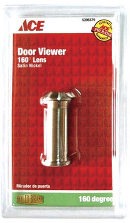 Ace Door Viewer Satin Nickel Fits Doors 1-3/8 in. to 2 in. Thick