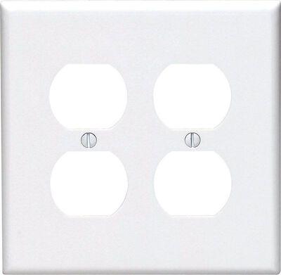 Leviton Midway 2 gang White Nylon Duplex Outlet Midsize Wall Plate 1 pk