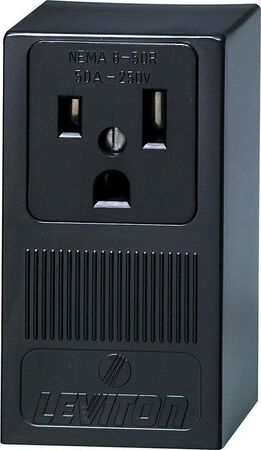 Leviton Electrical Receptacle 50 amps 6-50R 250 volts Black
