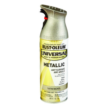 Rust-Oleum Universal Satin Nickel Metallic Spray Paint 11 oz.