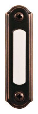 Heath Zenith Antique Copper Wired Pushbutton Doorbell