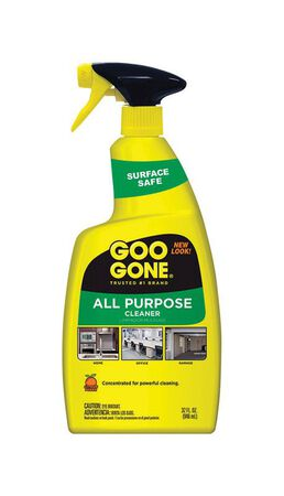 Goo Gone Citrus All Purpose Cleaner 32 oz. Yellow For Garages Liquid