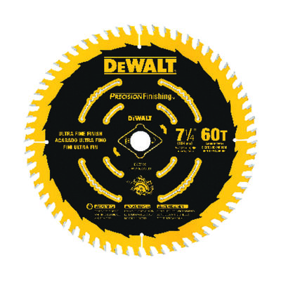 "7-1/4"" 60T Precision Finishing Saw Blade"