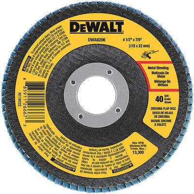 "4-1/2"" x 7/8"" 40 Grit Zirconia T29 Flap Disc"