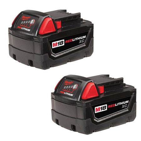 Milwaukee M18 XC 18 volts Red Lithium Battery Combo Pack