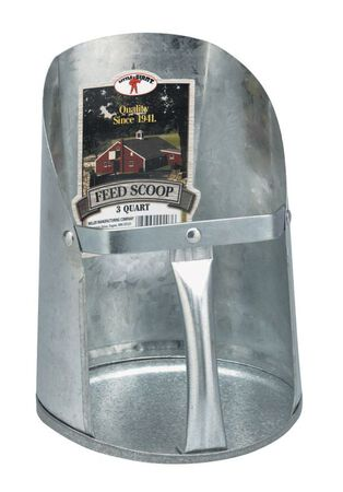 Miller Little Giant 8-1/2 in. L Feed Scoop Galvanized Steel