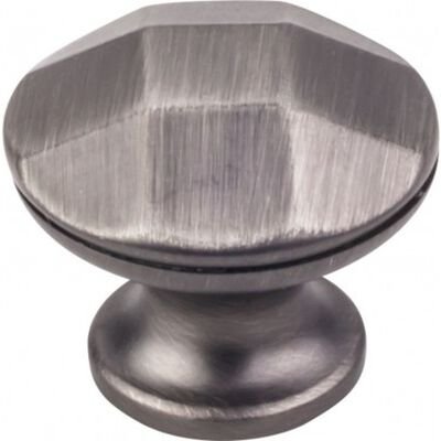 "1-1/4"" Diameter Geometric Cabinet Knob Brushed Pewter"