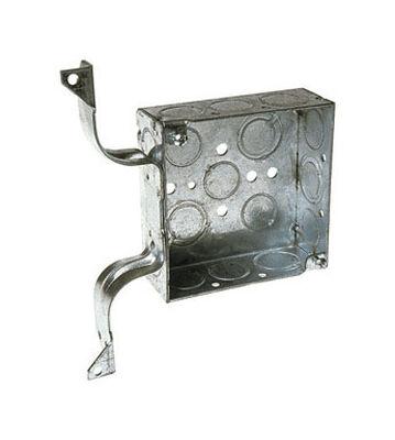 Raco 4 in. H Square Junction Box 1/2 in. Gray Steel